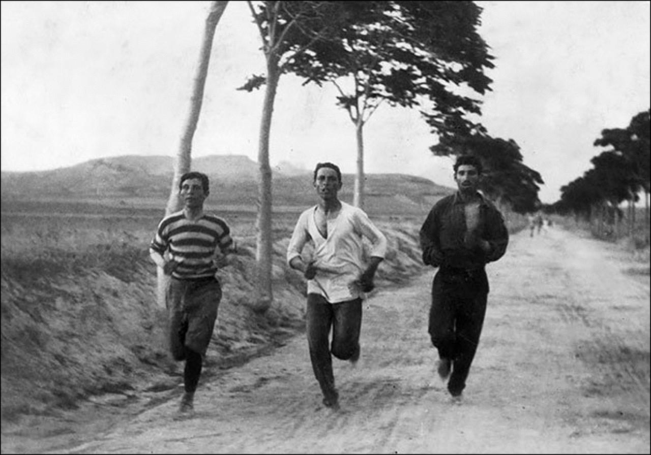Марафон на первых в Новой Истории Олимпийских Играх, 1896 Историческая фотография, история, факты