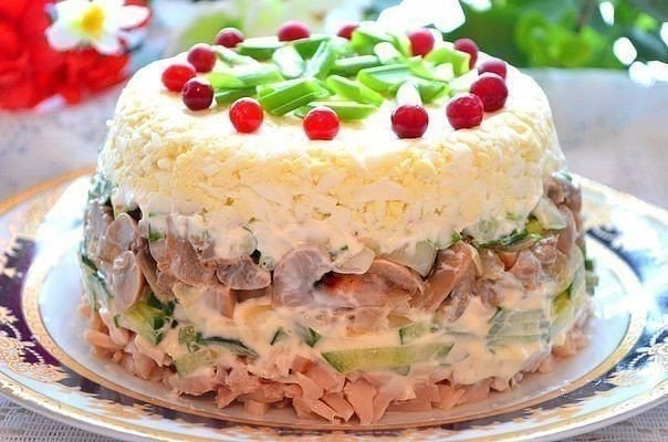 Рецепты красивых салатов к новому 2016 году