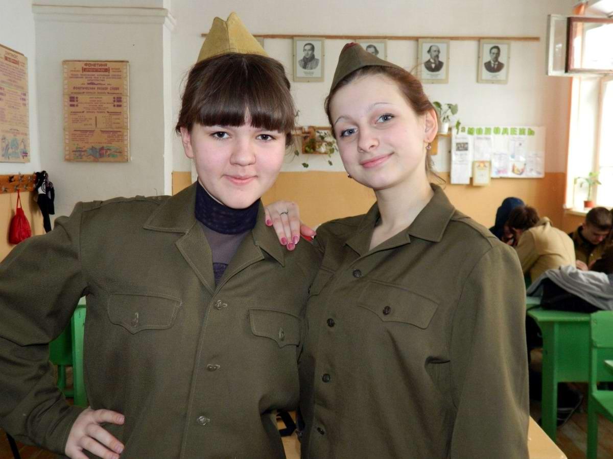 Фото девушек в кадетской форме