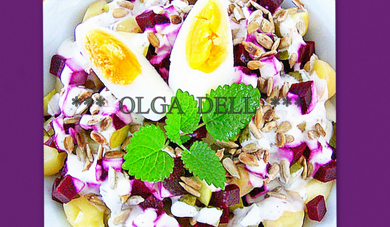 картофельный салат со свеклой .Германия. Фото-рецепт. Olga Dell