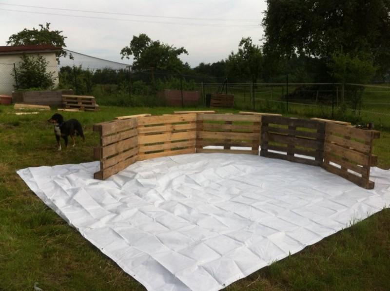 Гениальная идея! Бассейн из деревянных ящиков дешевый, сделать его можно самостоятельно