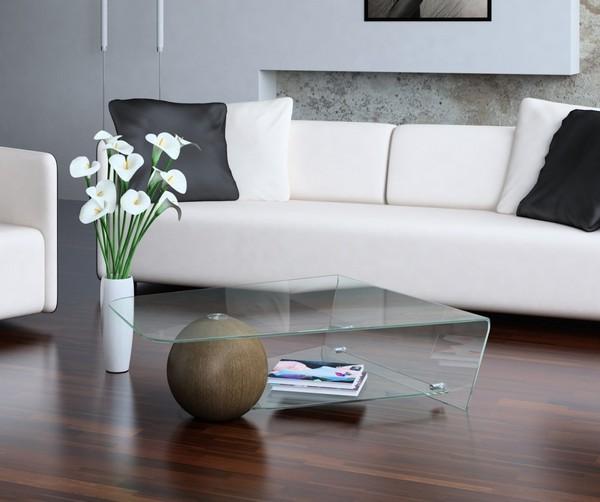Столик с ножкой-шаром и стеклом