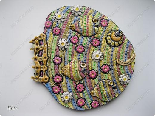 Картина, рисунок, панно Лепка: рыбы Гипс. Фото 4