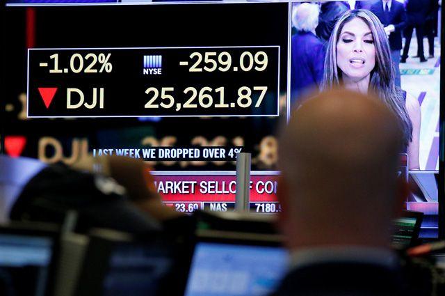 Что означает резкое падение индекса Dow Jones?