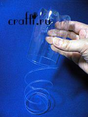 Как сделать завитки из пластиковых бутылок