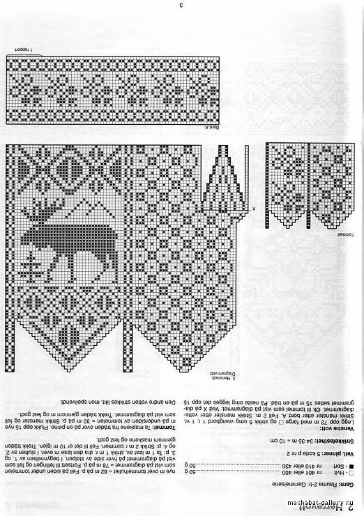Схема вязания варежек спицами узор 772