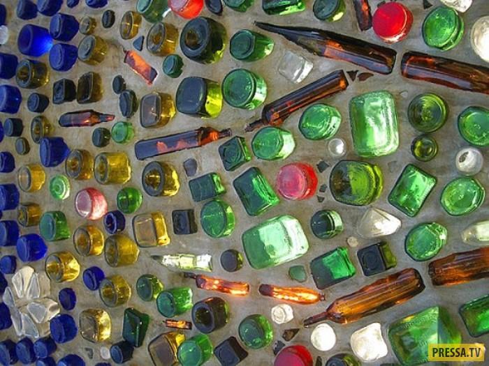 Поделки для дачи из стекла