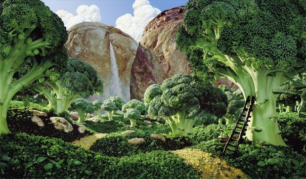 Чудо-пейзажи из еды от Карла Уорнера