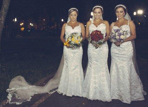 Тройная свадьба сестёр-близняшек