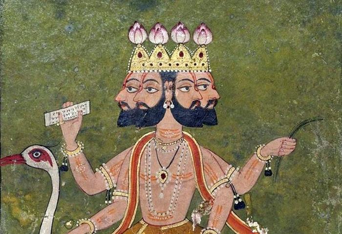 Брахма отрастил дополнительную голову для подсматривания.