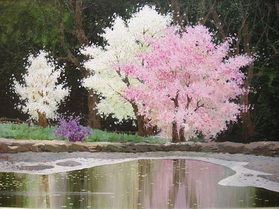 Нежным цветением тихо дыша..…