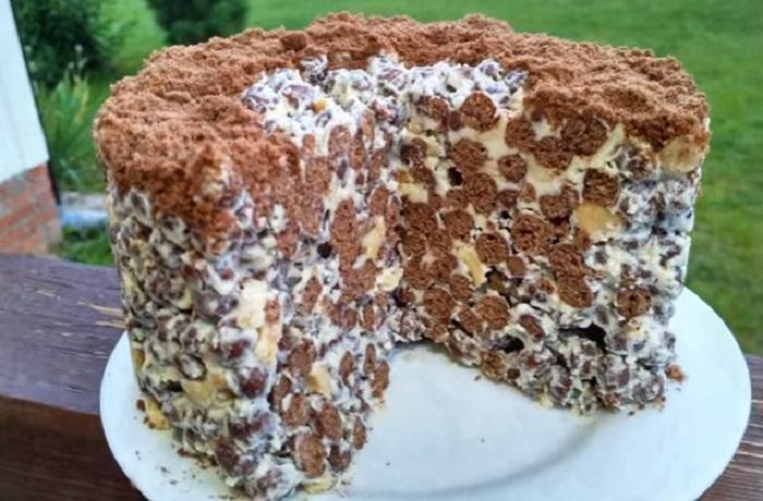 Хрустящий торт без выпечки для тех, у кого никогда нет времени