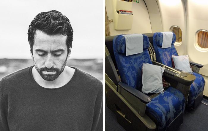 Как девушка летела рядом с музыкантом, слушала его песни в наушниках, и что из этого вышло...
