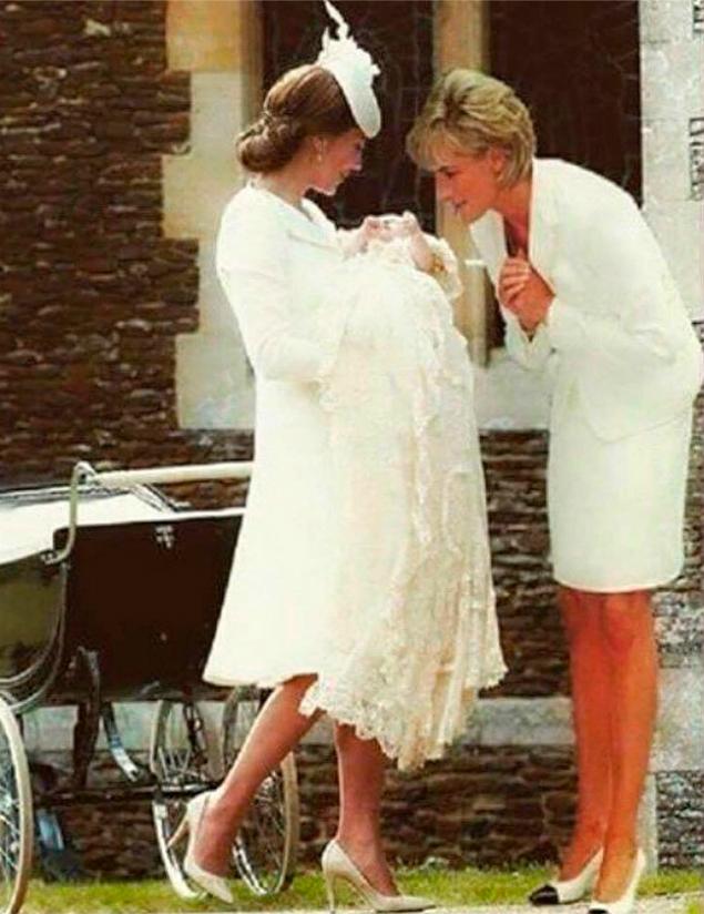 Фотомонтаж Кейт Миддлтон с покойной принцессой Дианой вызвал скандал в сети и стал хитом Интернета