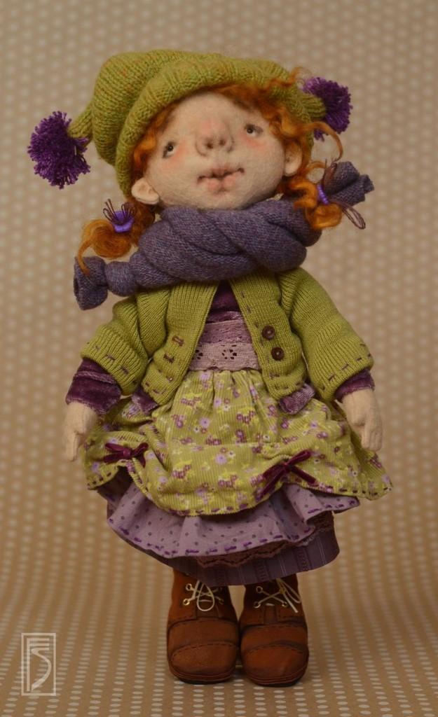 Шьем куклу - очаровашку из тонкого шерстяного фетра