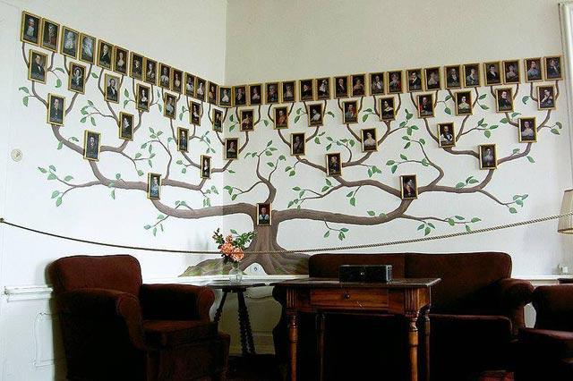 Семейное дерево в интерьре