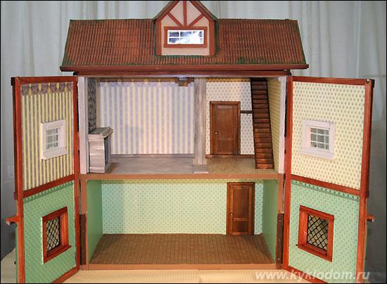 Самодельный домик для игрушек