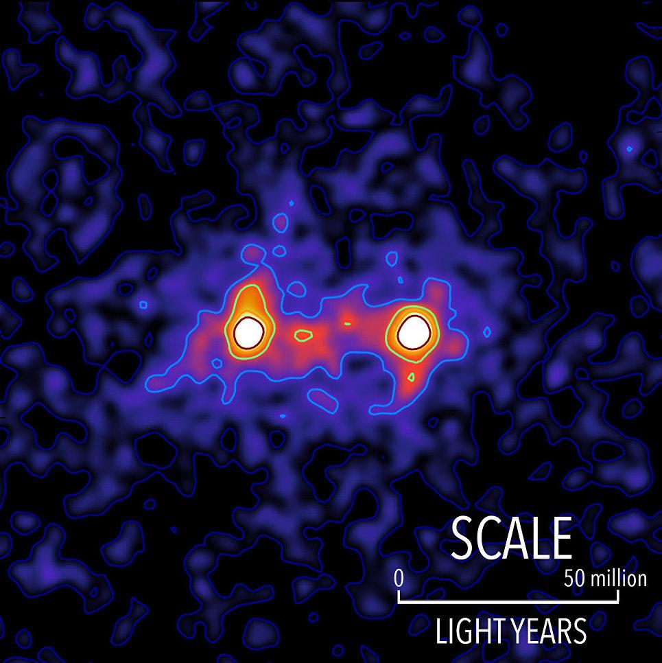 """Астрономы впервые получили фотографии """"нитей"""" темной материи"""