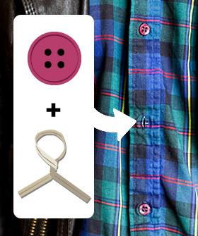 18. Если вы потеряли пуговицу, то ее на какое-то время может заменить зажим для пакетов одежда, совет