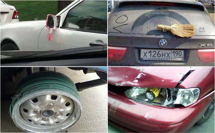17 способов быстро, оригинально и смешно отремонтировать автомобиль