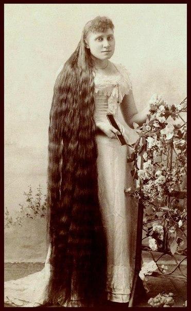 Фото красавиц-Рапунцель конца 19-го века.