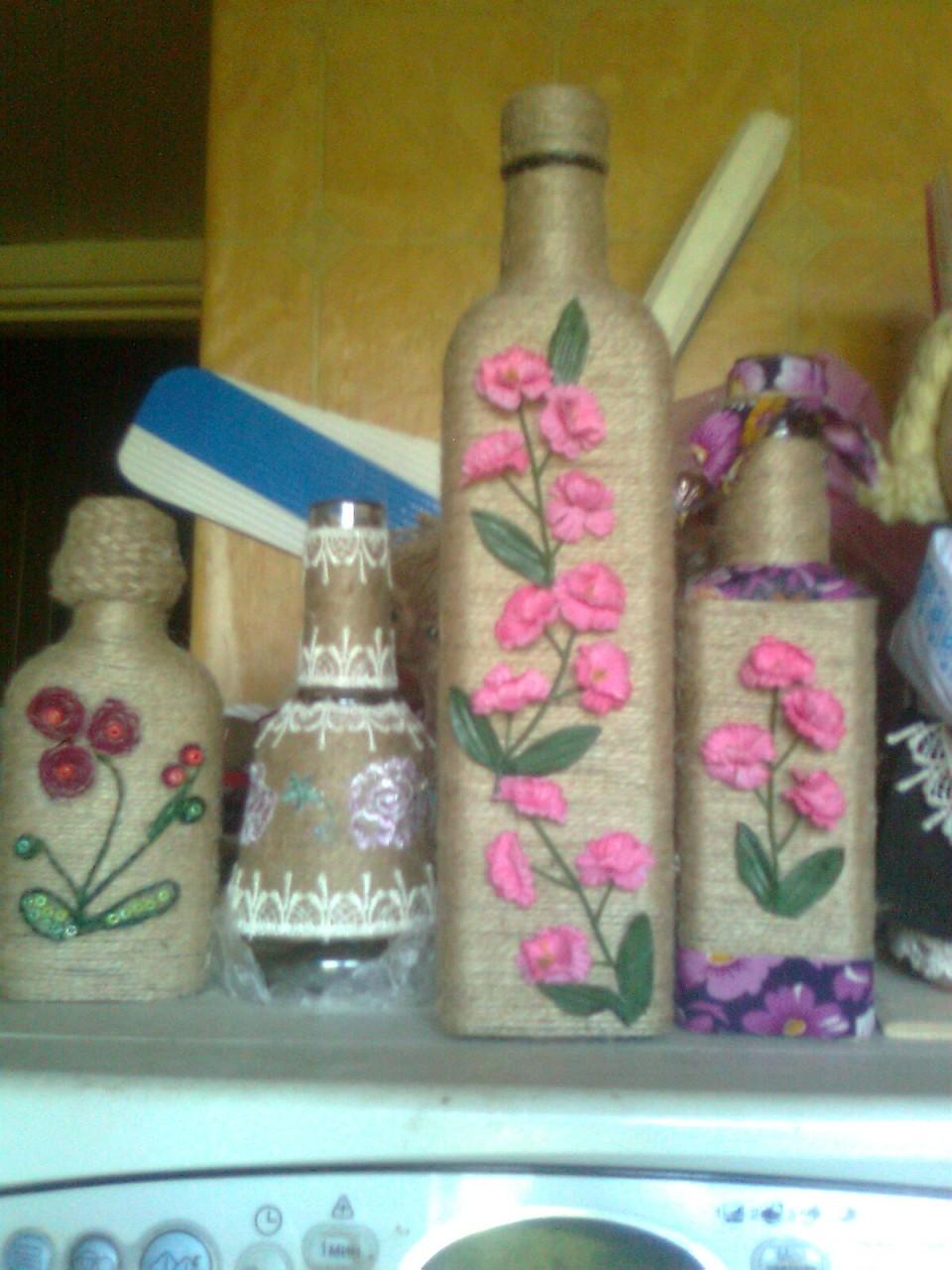 Как декорировать пластиковую бутылку своими руками 85