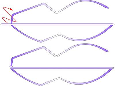 Змея - плетение из фольги - своими руками. Символ 2013 года. Мастер-класс Олеси Емельяновой. Схема плетения головы змеи 2
