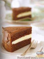 Фото к рецепту: Шоколадный торт с масляным кремом