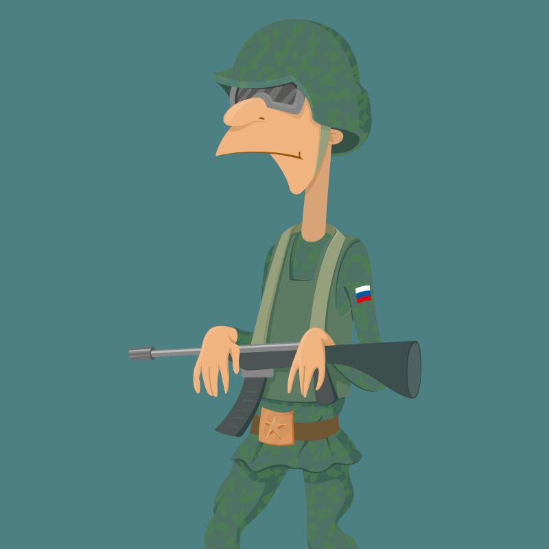 Анекдот про двух солдат, отсидевшихся вокопе вовремя атаки