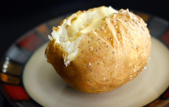 Запеченный в фольге картофел…