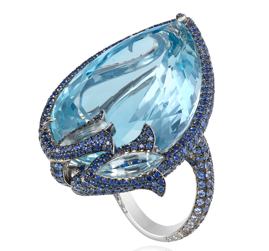 Chopard Cannes Aquamarine Ring