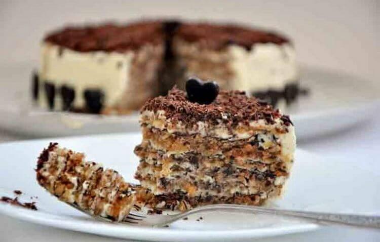 Ореховый торт почти без муки