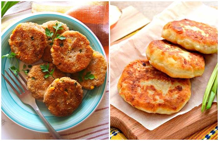Картофельные котлеты с ветчиной и сыром.  Фото: google.com.ua.