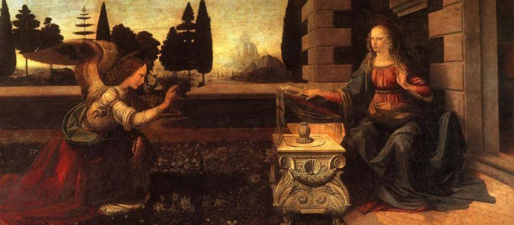 Благовещение - Леонардо да Винчи (1472)