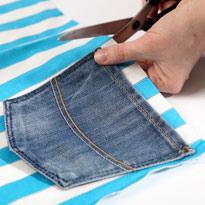Стильный гамак из старых джинсов. Шаг 7