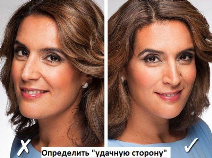Найдите свой удачный ракурс лицо, мимика, фото