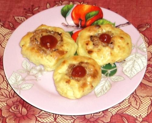 Картофельные гнезда с мясом