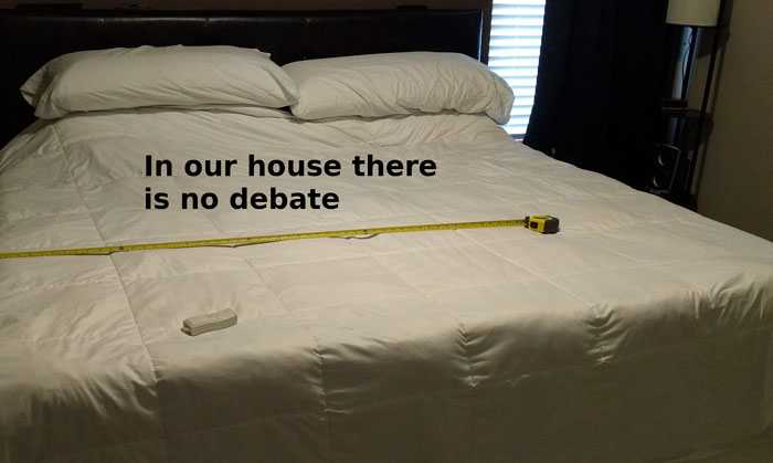 Husband Tired Of Fighting For His Bed Side, Finds A Genius Solution