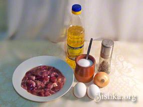 Куриная печень по-румынски