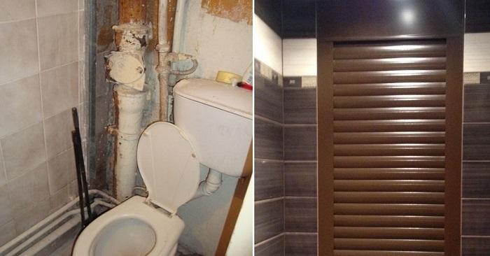 Чтобы трубы в туалете не бро…