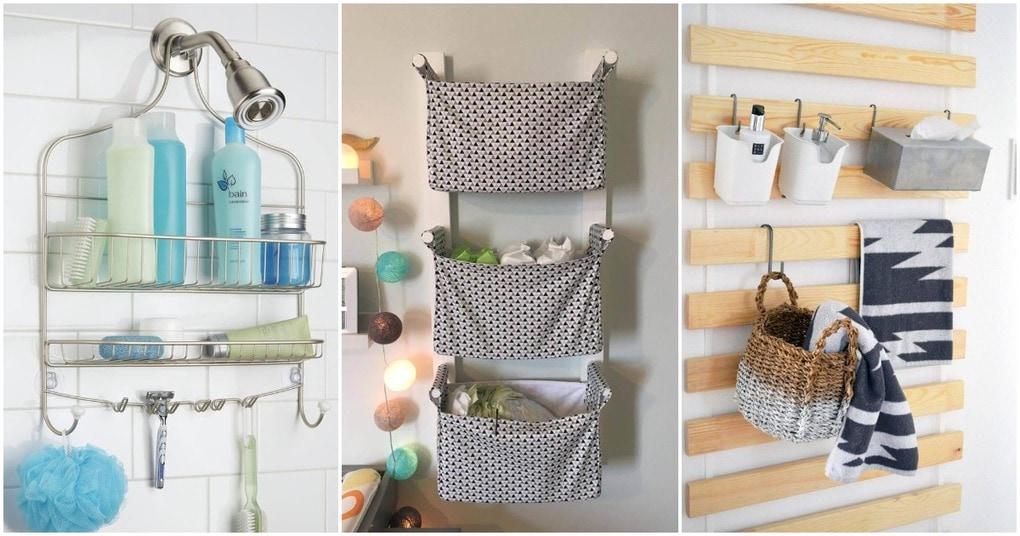 Функциональные подвесные системы хранения для экономии места в ванной