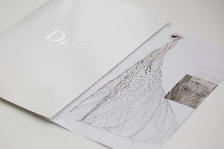 Фотографии создания платья Christian Dior