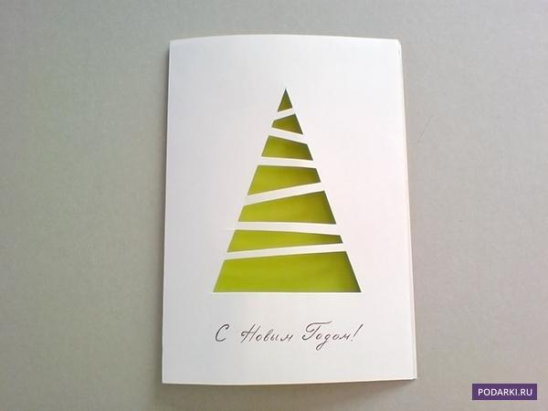 Несложные открытки на новый год своими руками