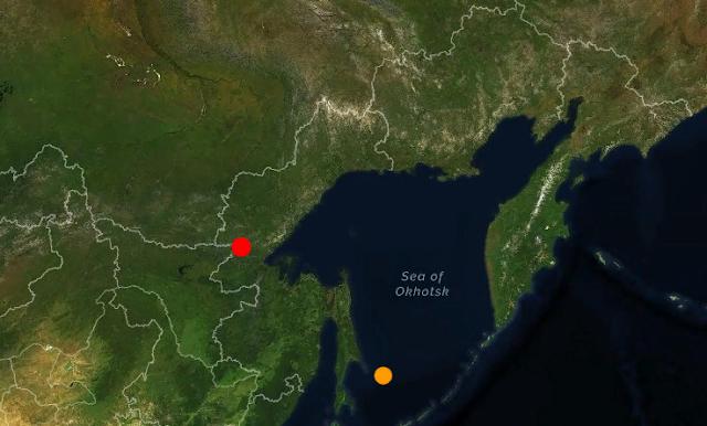 Землетрясение магнитудой 5.2 в Хабаровском крае