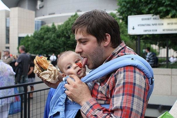 Детей с отцами оставлять можно, но ненадолго дети, забавно, забота, отец, подборка, прикол, юмор