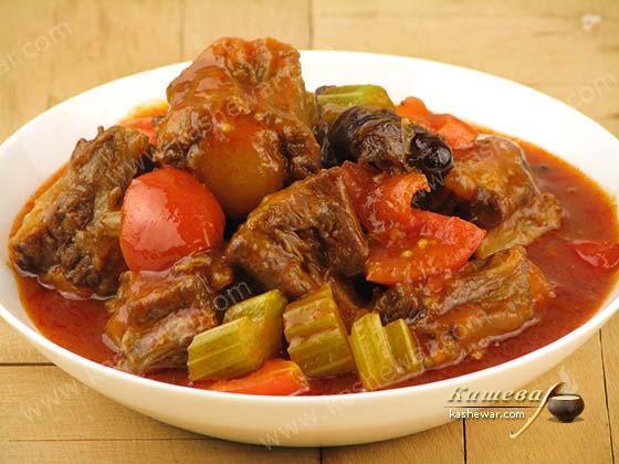 Рагу из говяжьих хвостов – рецепт с фото, китайская кухня