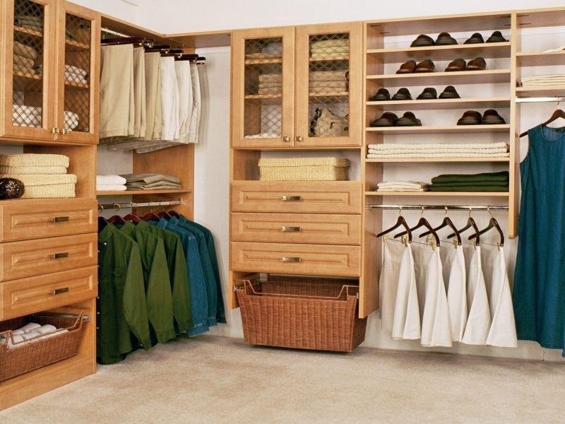 Интерьеры гардеробных комнат.