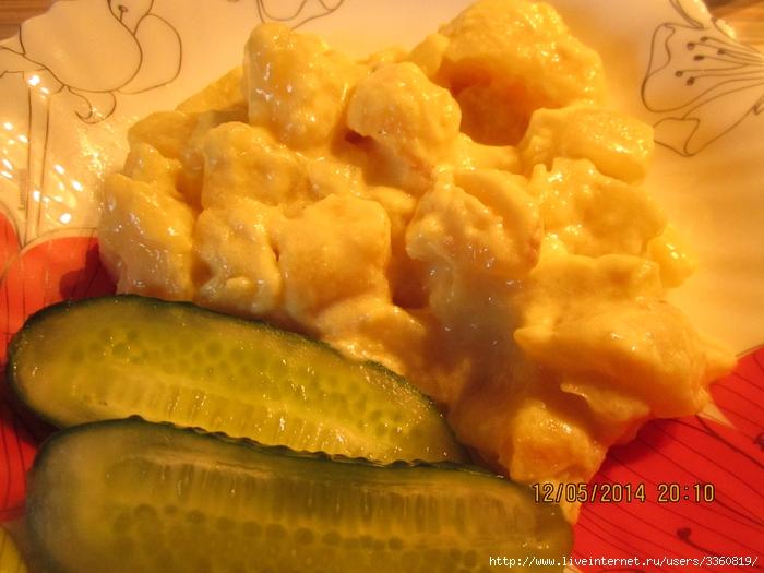 Картофель, томленый в молоке