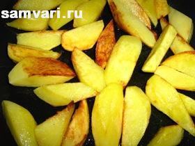 картофель жареный для капусты