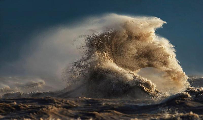 Песчаная буря  озеро, фотосессия, эри